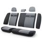 Чехлы автомобильные Трансформеры , велюр, задний ряд, чёрн./т.серый.  TRS-002 BK/D.GY