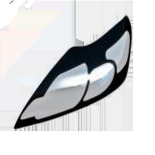 Защита передних фар прозрачная FORD FOCUS III 2011-  арт. NLD.SFOFO31121